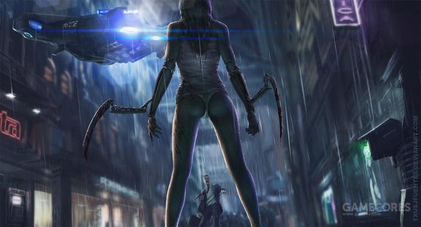 Women Warrior Artwork Sword Rain Cyberpunk Cyberpunk: 赛博朋克2077的地图比巫师3还要大
